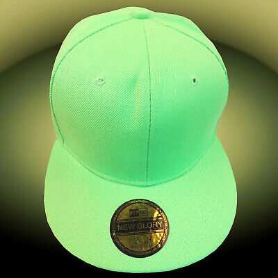 Snapback Hip Hop Plain Cap Classic Funky Fresh Mens & Women Boys Baseball Green