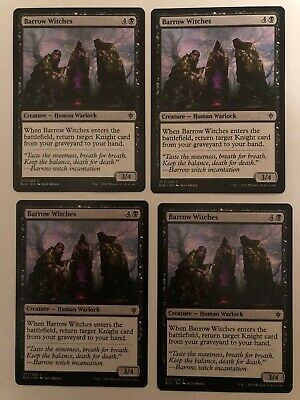 4x Mtg Throne Of Eldraine Barrow Witches NM/M Magic Karte Magic The Gathering
