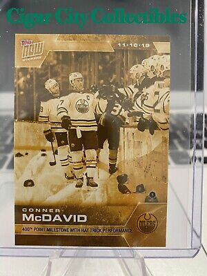 2019-20 NHL Topps NOW Connor McDavid GOLD PARALLEL Sticker 52G SP TRACKED 📫