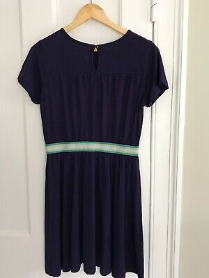 Mini Boden Girls Navy Blue Dress Age 13-14 years. Excellent Condition