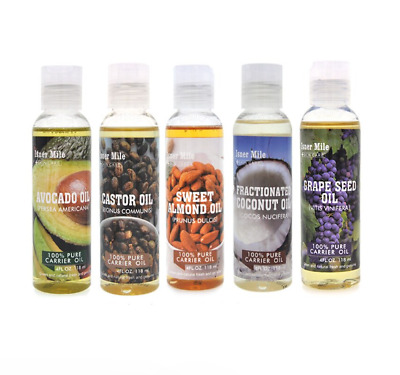 Oil Natural 100 Pure Cold Pressed Organic 118ml Multi smell Carrier Oil Body