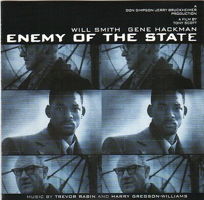 ENEMY OF THE STATE CD-Album OST Music by Trevor Rabin 1998 (Film mit Will Smith)