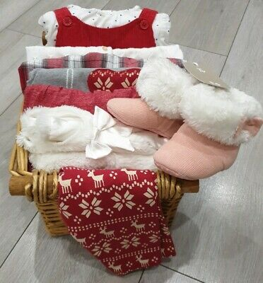 Next 3-6 Christmas Baby Girl Bundle M&S George Shoes BNWT