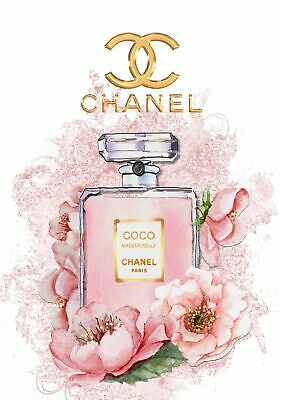 Chanel Coco Mademoiselle Perfume Fashion Print - Glossy Finish - A4 Unframed