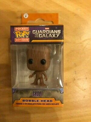 Funko Pop Keychain Marvel Guardians of the Galaxy Groot Bobble head