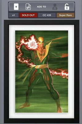 Topps Marvel Collect DIGITAL Iron Fist Alex Ross OA