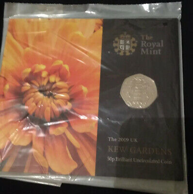 Royal Mint 2009 Kew Gardens 50p BUNC Brilliant Uncirculated Coin Sealed 50p