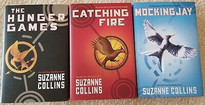The Hunger Games Trilogy Suzanne Collins 3 Books Hardcover Jacket Mockingjay