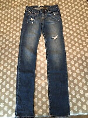 girls abercrombie and fitch Slim Blue Jeans 14 Years VGC