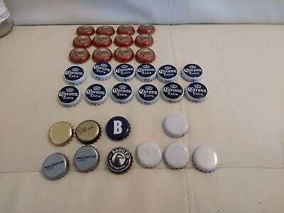 34 used beer bottle tops for crafts mixed