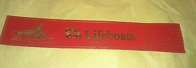Leather bookmark. Lifeboats. 47ft Tyne Class. One image.