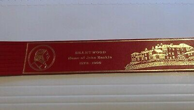 Leather bookmark. Brantwood. Home Of John Ruskin. Two images.