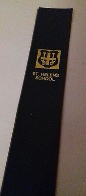 Leather bookmark. St Helens School. One image.