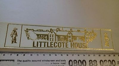 Leather bookmark. Littlecote House. Three images.