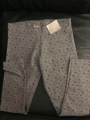 Next Girls New Leggings Age 9 Grey With Small Stars