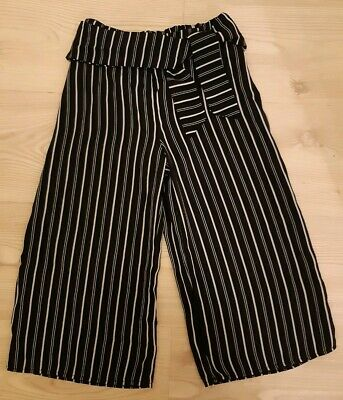 Girls Black & White Striped Culottes by Atmosphere Age 8-9