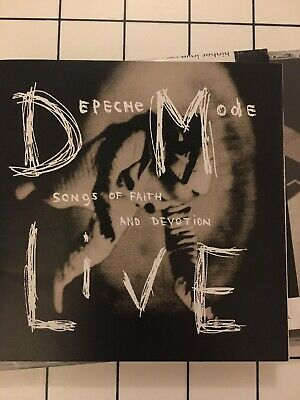 Depeche Mode - Songs of Faith and Devotion Live Japanese Release Lyric Sheet