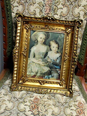 Picture Vintage Rococo French Antique Style Ornate Gold Gilt Gild Frame Parisian