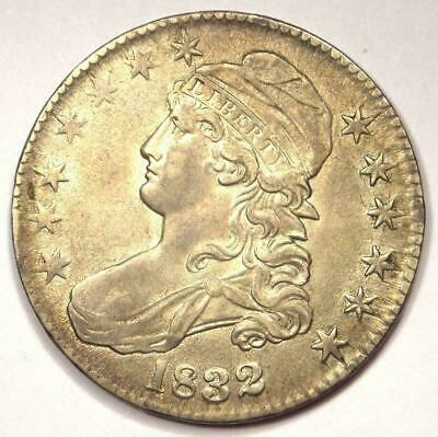 1832 Capped Bust Half Dollar 50C - Nice AU Details - Good Luster - Rare Coin!
