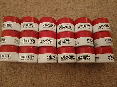 Lot of Cellcosmet Switzerland face care EMPTY JARS travel, salon trial refills