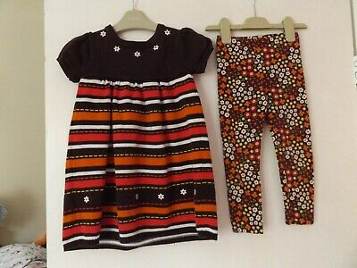 Gymboree beautiful outfit / set dress and leggings aged 4 years