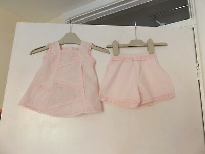 Next pretty pink shorts and top outfit set aged up to 3 months