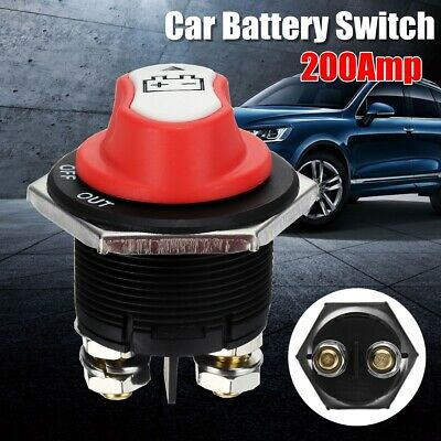12V 200A Disconnect Battery Isolator Cut Off Kill Switch Key For Car Marine