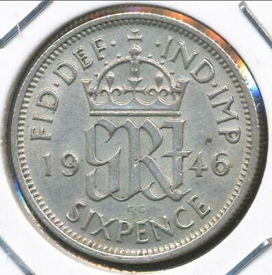 Great Britain, 1946 Sixpence, George VI - Extra Fine
