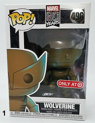 Funko Pop Wolverine Marvel 80th Anniversary Patina Target Exclusive BRAND NEW!