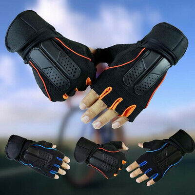 Fitness Gym Padded Gloves Dumbbell Weight Lifting Bodybuilding Training Running