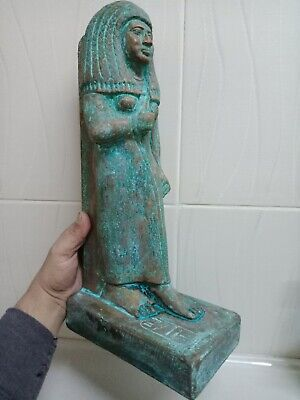 A rare bronze statue of one of the wives of King Amenhotep the Second. 40cm..2