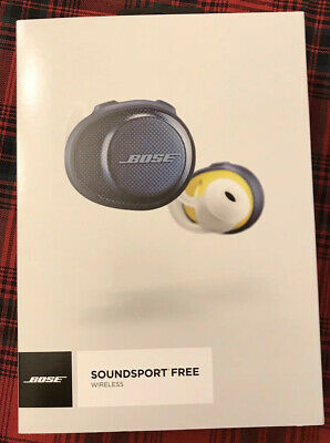 Pre-owned Bose SoundSport Free Wireless Headphones Navy/Citron