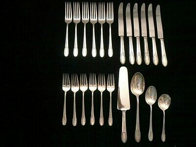 sterling silver flatware by International Sterling, Pat. 1933 Trousseau pattern