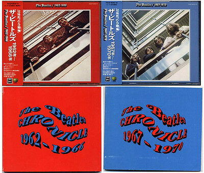 THE BEATLES Red & Blue 1962-1970 JAPAN 1st Press 1993 CD Set!! W/Obi RARE