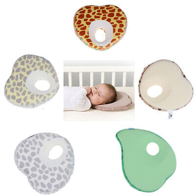 Newborn baby Infant Pillow Memory Foam Positioner Prevent Flat Head Anti Roll~JP