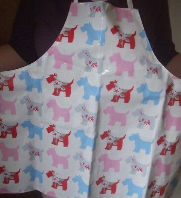 PVC Scottie Dog Floral Pastel Coloured Apron