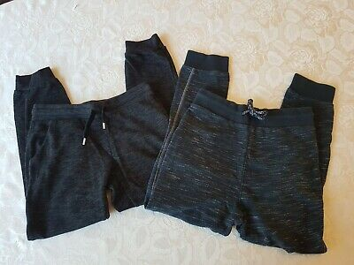 Next H&M Black Marl Tracksuit Jogging Bottoms x 2 Pairs Both Age 9 Years