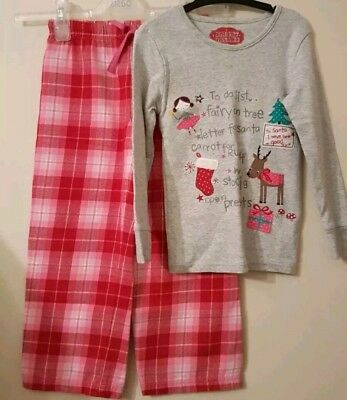 Christmas Eve Marks & Spencer Girl's Festive Pyjamas Nightwear Set Age 5-6 Yrs