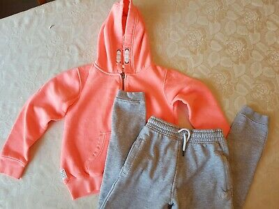 Next Tracksuit Hoodie Jumper Top Pink & Grey Jogging Bottoms Age 9 Years