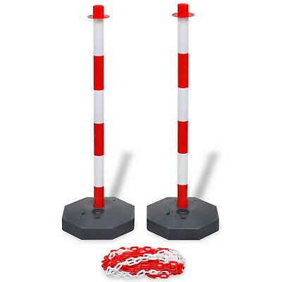 Traffic Chain Post Set Safety Plastic Warning Sign Barrier 10m Security Guard