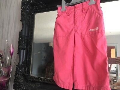Girls Regatta Pink Croppd Trousers Age 7-8 Years