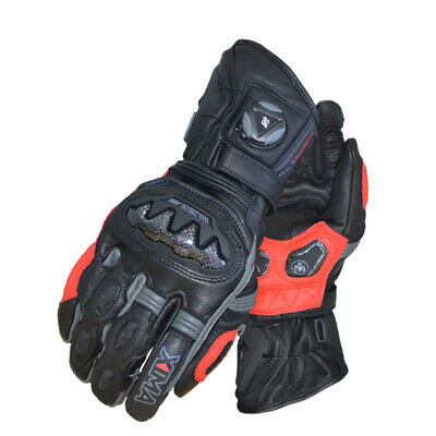 XIMA Prefessional Motorcycle Race Gloves Motocross Powersport Leather Black Long