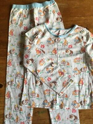 Gorgeous Girls Cath Kidston Guinea Pig White Pyjamas Age 5-6yrs