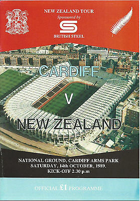CARDIFF RUGBY UNION v NEW ZEALAND 14 OCTOBER 1989