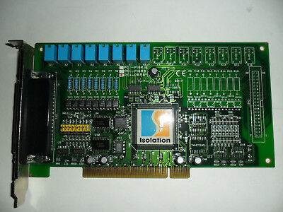 Isolation PCI-P8R8 Board with 8 Channels of Isolated Digital Input / 8 Relay Out