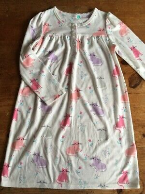 Sweet Girls White Nightdress with Cats Kittens from John Lewis Age 6y