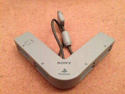 Official Genuine Sony Playstation 1 Ps1 Multi Tap 4 Player Adapter Scph-1070
