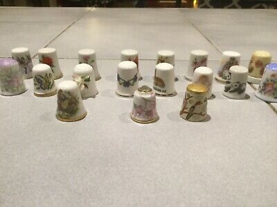 Thimbles.....very Collectable....made In England....set Of 19 Thimbles...
