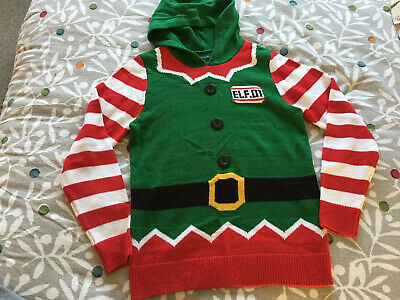 Boys Girls Christmas Jumper Elf Next Age 13