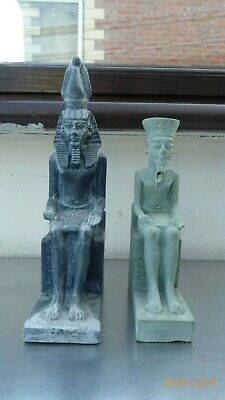 Two  Egyptian Sculpturs Carved Stone